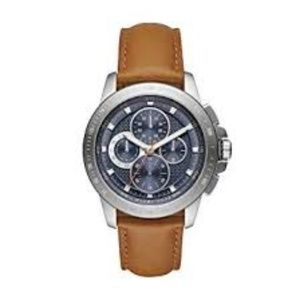Michael Kors Blue/Brown Leather Watch MK8518